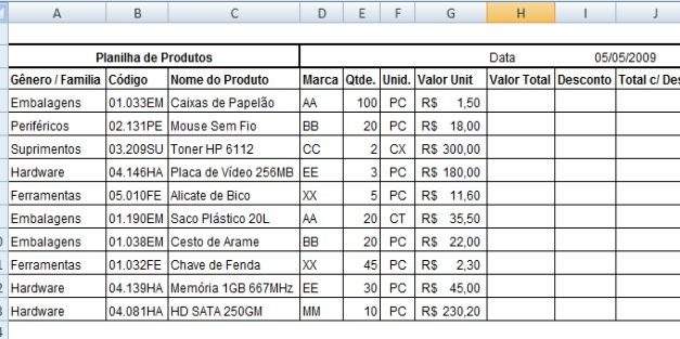 Aposte no planejamento de marketing utilizando planilha de Excel